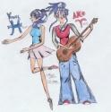 Dancer Yuurei and Rocker Ako [Jenny]