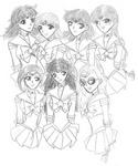 The Zodiac Seven! Taurus, Virgo, Capricorn, Sagittarius, Gemini, Leo, and Virgo [Cookie-chan]