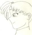 A sketch of Ryuu's profile [???]