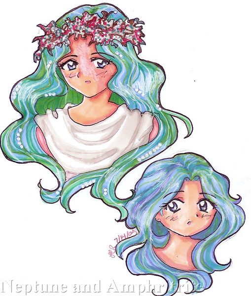 Queen Amphritrite and daughter Princess Neptune, very, very cute. [Christie]