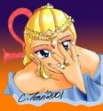 Dione with Kin-wa on her finger [Minako]