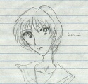 'Kanzaki Hitomi with Rei Ayanami's hair..' [Voice of the Mist]