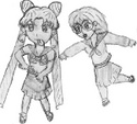 Aiko stopping Usa-chan from making a chemistry disaster [Amanda]