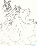 Uber-cute Neo Moon and Neo Princess Serenity [Kitty]
