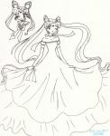 Uber-cute Neo Moon and Neo Princess Serenity [Kitty]