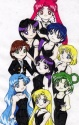 The Neo Senshi in a SD Version of the the 'black dress' poster of the original Senshi [Megan Simko]