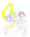 Poster-like image of NeoSenshi (and Shizuki?) in white T-shirts [Pandora]