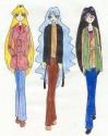 Himeko, Megami, and Karei in winter clothes [Stephanie McKay]