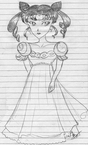 Usako! (in that dress she hates!) [Voice of the Mist]