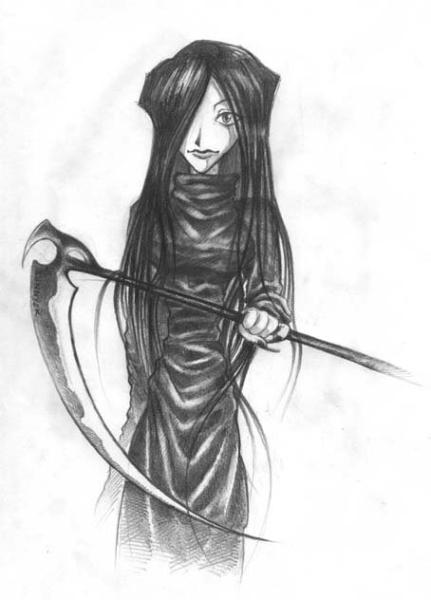 Lady 9 w/sycthe-- original sketch [sunny-chan]