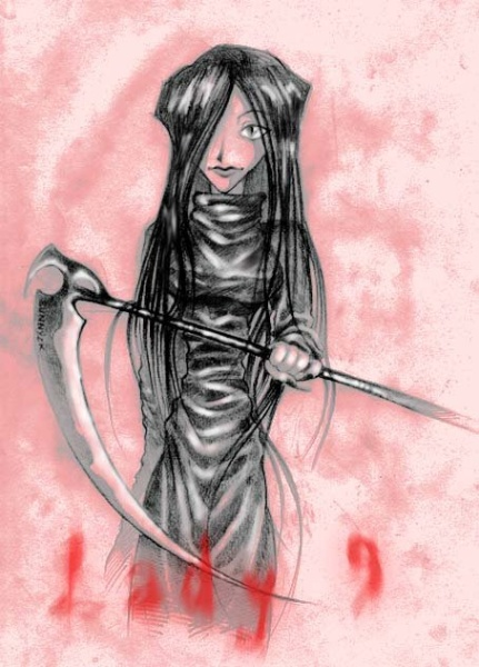 Lady 9 w/scythe and special