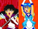 Episode 25: Neo Sailormercury & Neo Sailorsaturn attacking [Unknown]