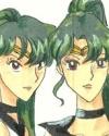 Sisterly Love, cool picture of Sailorpluto and Sailorcharon [Ashiko]