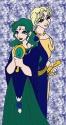 Princess Neptune & Uranus in their respective civ. garb~ [Comet-hime]