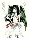 Beautiful winged Neo Saturn [Kayla Lewis/Sailor Rainbow]