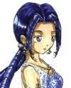Beautiful Maia in a long blue dress [Halite]