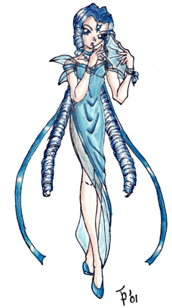Cool looking Maia in a variation of Princess Mercury's dress, nicely done! [Lil'Jupiter]